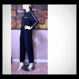 ST. JOHN Knit Jumpsuit with Pailettes